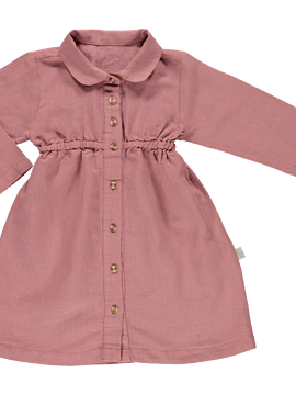 Vestido Clématite, LINO LIGHT MAHOGANY