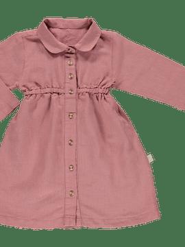 Vestido Clématite, LINO LIGHT MAHOGANY, 3Y/8Y