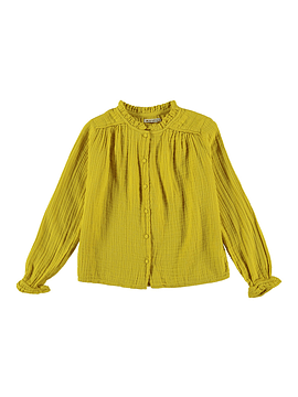 Lúa Winter Bambula Blouse, yellow, 4Y