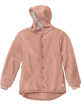 Boiled Merino Wool Jacket, Rose