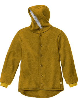 Boiled Merino Wool Jacket, Gold