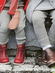 Merino Wool Leggings, Gold