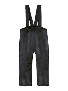 Boiled Merino Wool Trousers, Anthracite