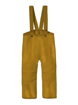 Boiled Merino Wool Trousers, Gold