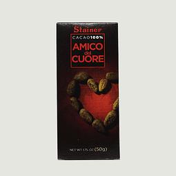 AMICO DEL CUORE 100% CACAO (50G)