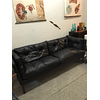 Vintage Black 2-seater sofa
