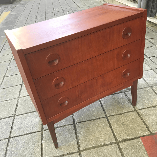 Vintage Teak Cabinet with 3 drawers