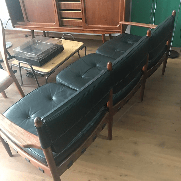 Vintage leather sofa 3 seats