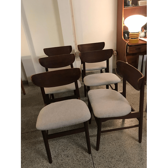 Teak chairs from the 1960s