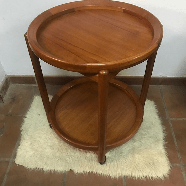 Round Teak Tea Table