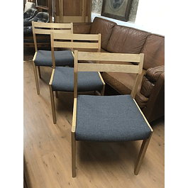 4  Dining chairs oak 60s