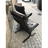 2 + 1 bench Siesta leather highback chair by Ingmar Relling 1960