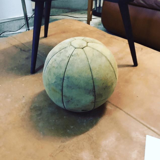 50s Gymnastics leather Ball