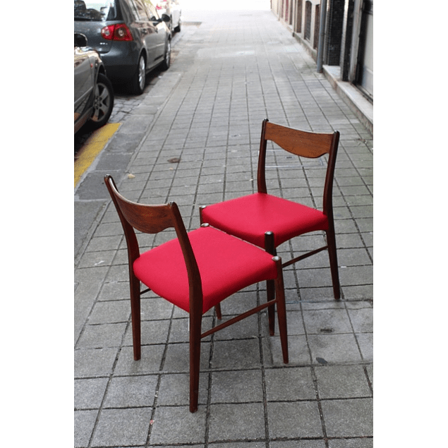 Set of Red Chairs