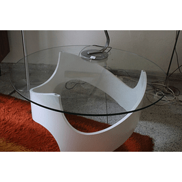 70s Coffeetable with Glas