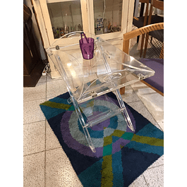 Acrylic side table from the 1970s