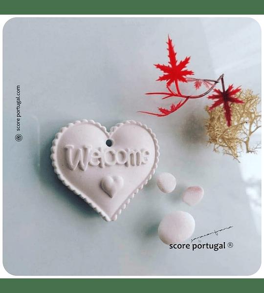 WELCOME LOVE | MOLDE SILICONE ARTESANAL