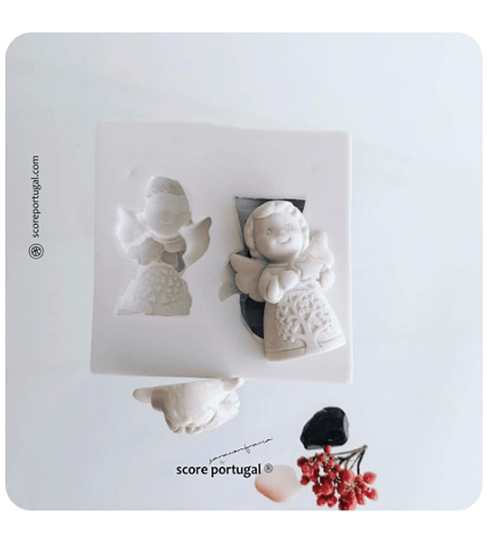 ANJO ESTRELINHA DA VIDA | MOLDE SILICONE ARTESANAL