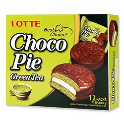 Chocopie Lotte Te Verde