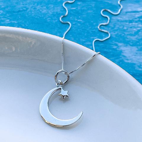 Collar Luna y Estrella Minimal