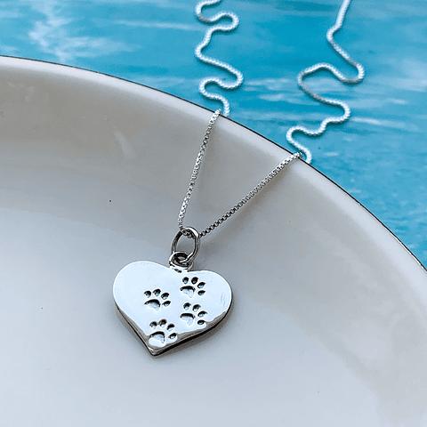 Collar Corazón Mascota - Pet Lover
