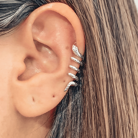 Ear Cuff Serpiente Queen