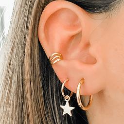 Argollas Star Gold