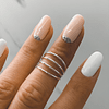 Anillo Midi Ring boho 4 lineas