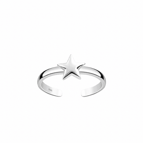 Anillo Midi Ring Estrella Baby