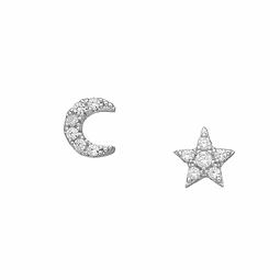 Aros Estrella y Luna Boho Shine