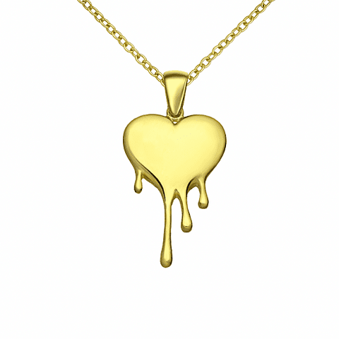 Collar Corazon - Melted Heart Paris Gold