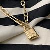 Collar Candado Gold Paris