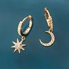 Argollas Estrella Polar y Luna Boho Gold