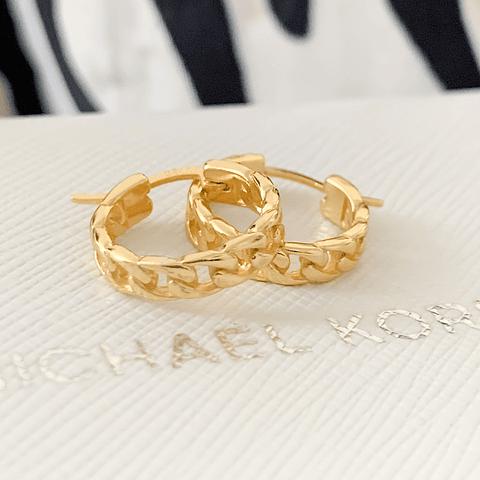 Argollas Cadenas Chunky Gold