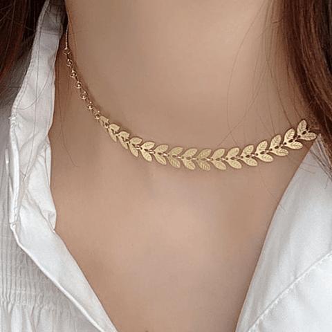 Collar Espigas Boho Gold