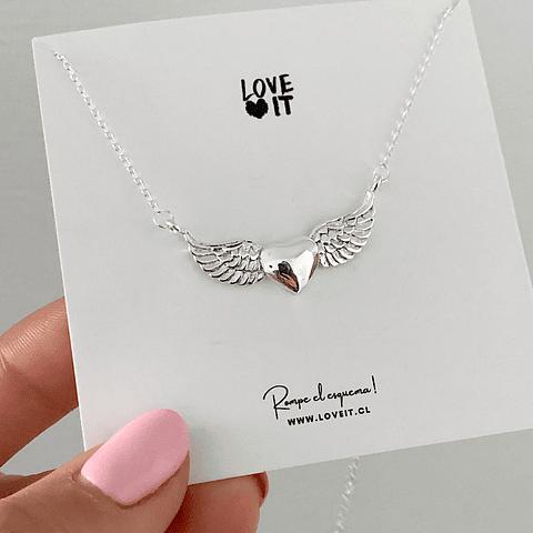 Collar Corazón Angel Protector