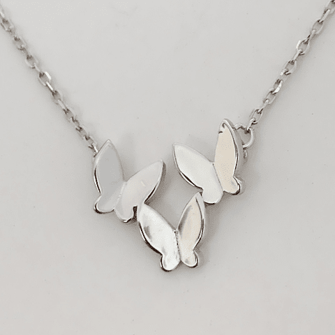 Collar Familia de Mariposas Monarcas
