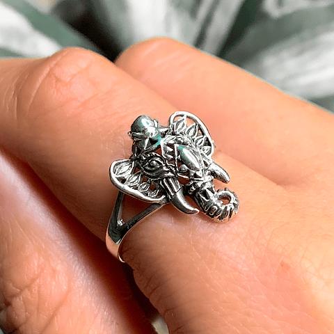Anillo Elefante de la Sabiduría Boho