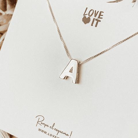 Collar Letra, elige tu inicial favorita (A - Z)