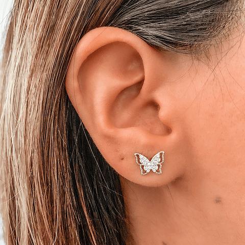 Aros Mariposas Monarca Protectora Shine