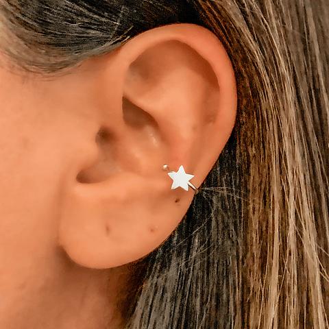 Aros Ear Cuff Estrella de los Milagros