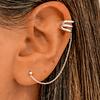 Aros Ear Cuff Cadena Prada