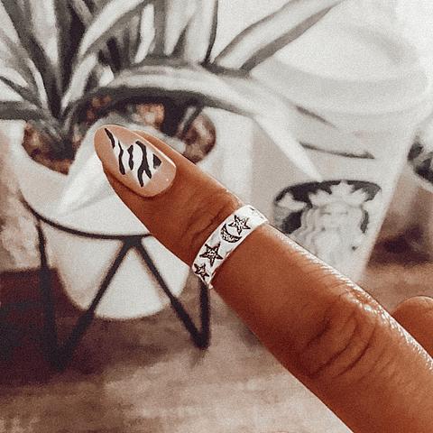 Anillo Midi Ring Estrellas de los Milagros