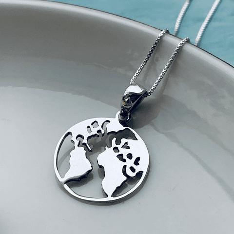 Collar Mapa Mundi - Planeta