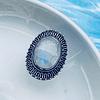 Anillo Portal Celestial con Piedra Luna