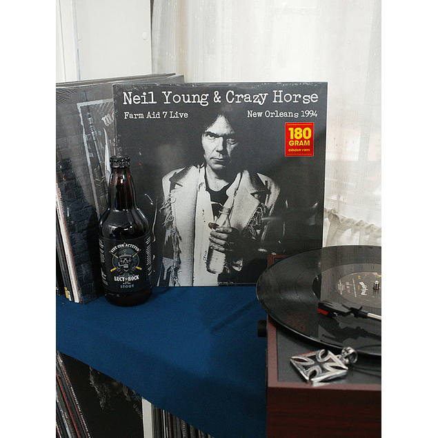 VINILO NEIL YOUNG & CRAZY HORSE LIVE AT FARM AID 7 IN NEW ORLEANS