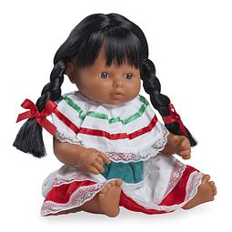 Play dolls niña latina 38cm con ropa
