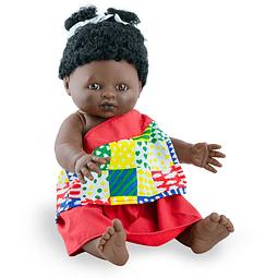 Play dolls niña africana 38cm con ropa