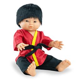 Play dolls niño asiático 38cm con ropa