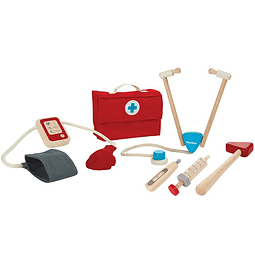 Set de doctor madera + maletín tela